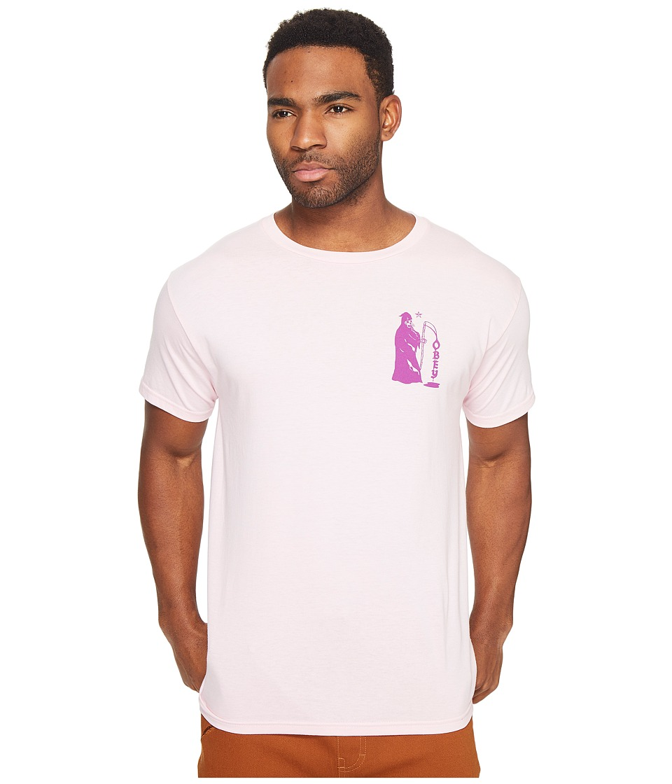Obey - Creepin Death Tee (Pink) Men's T Shirt