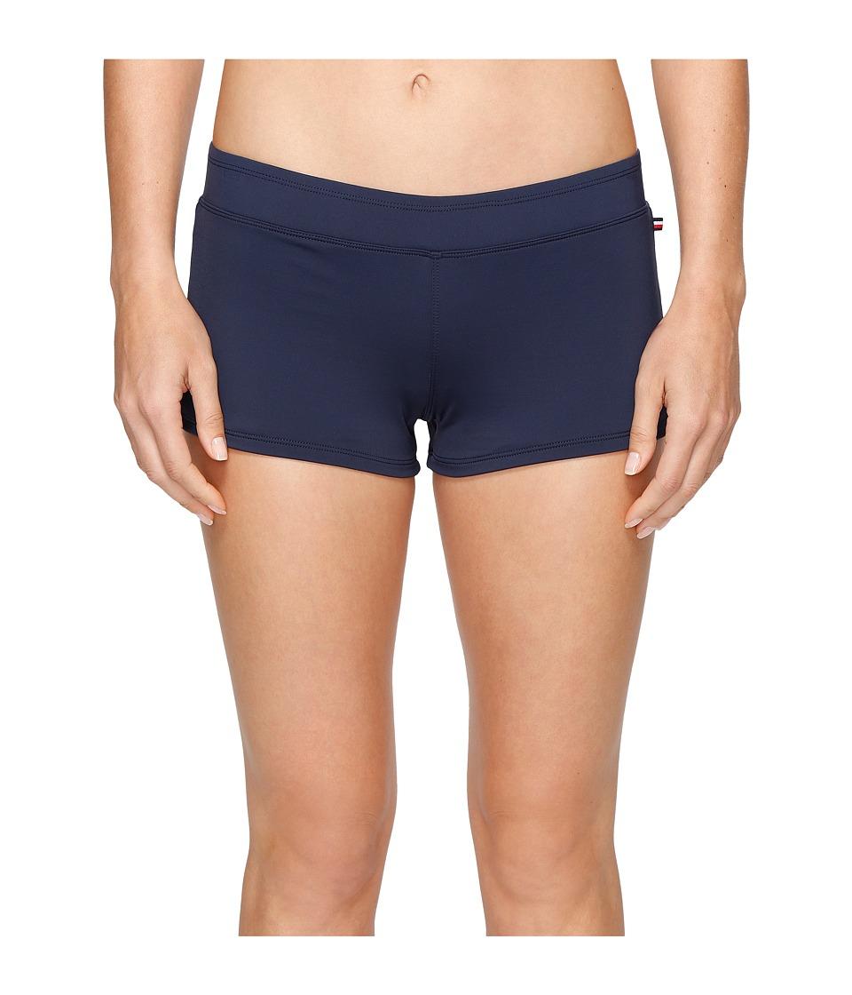 Tommy Hilfiger - Indy Stripe Swim Short (Core Navy) Women's Swimwear