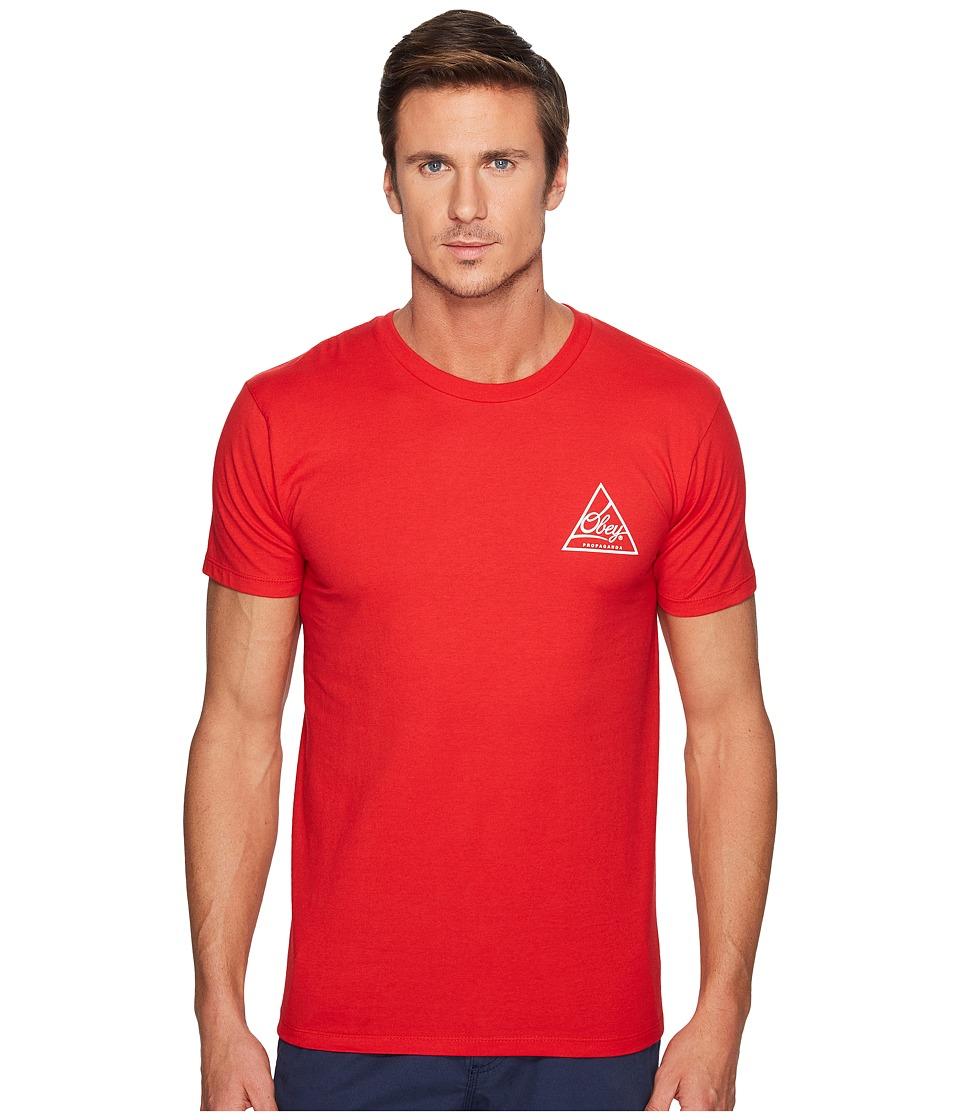 Obey - Next Round Tee (Red/White) Men's T Shirt