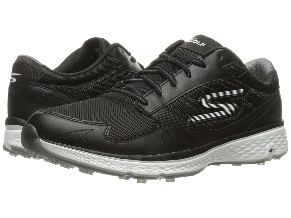 SKECHERS - Go Golf Fairway (Black/White) Men's Golf Shoes