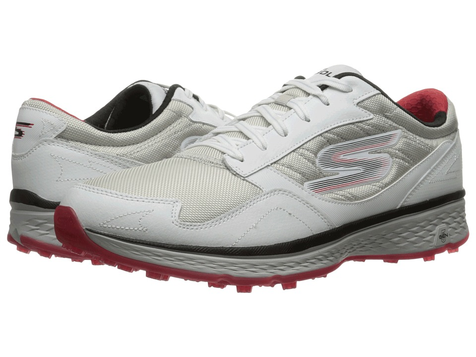 SKECHERS - Go Golf Fairway (White/Black/Red) Men's Golf Shoes