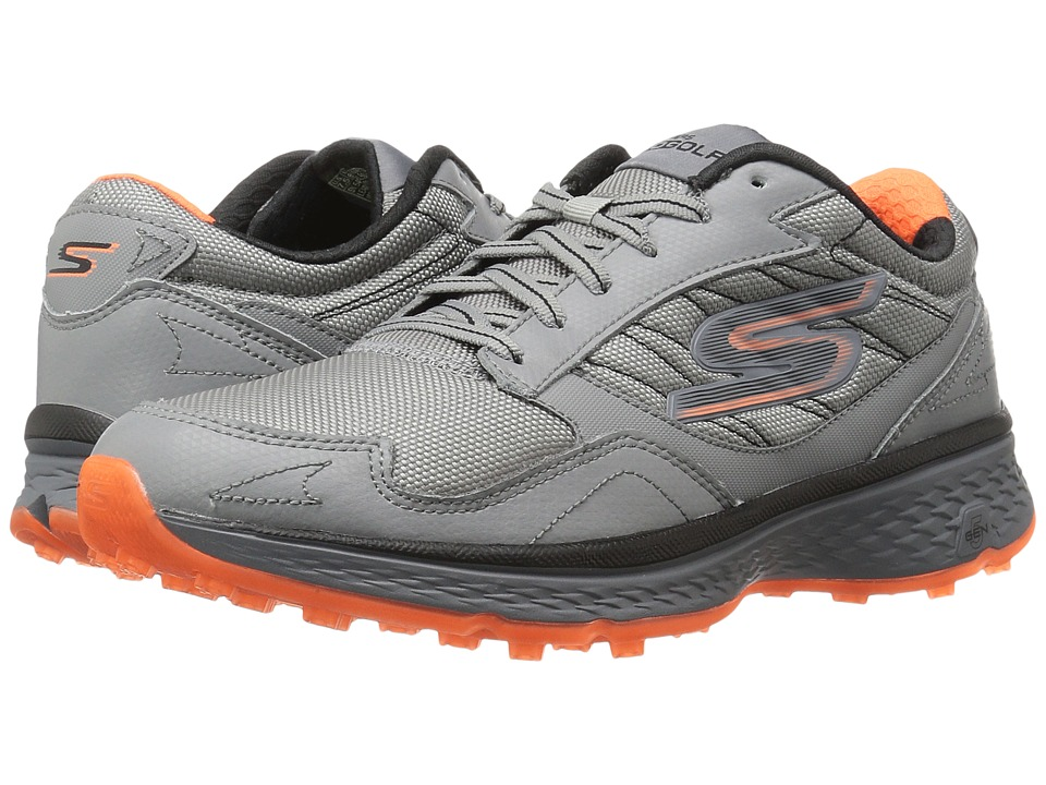 SKECHERS - Go Golf Fairway (Gray/Orange) Men's Golf Shoes