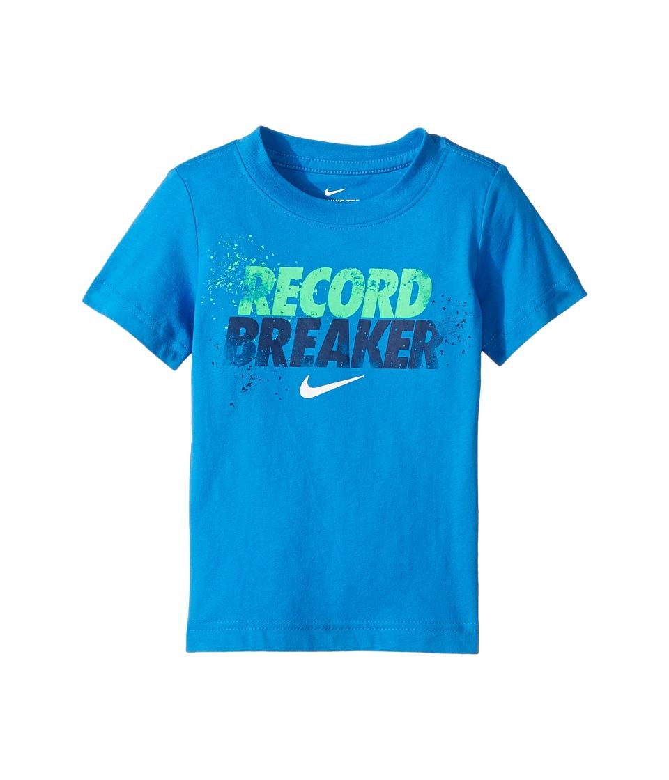 Nike Kids - Record Breaker Tee (Toddler) (Light Photo Blue) Boy's T Shirt