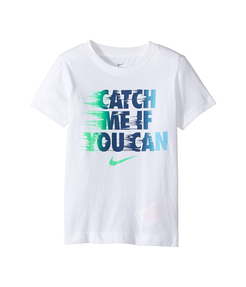 Nike Kids - Catch Me If You Can Tee (Toddler) (White) Boy's T Shirt