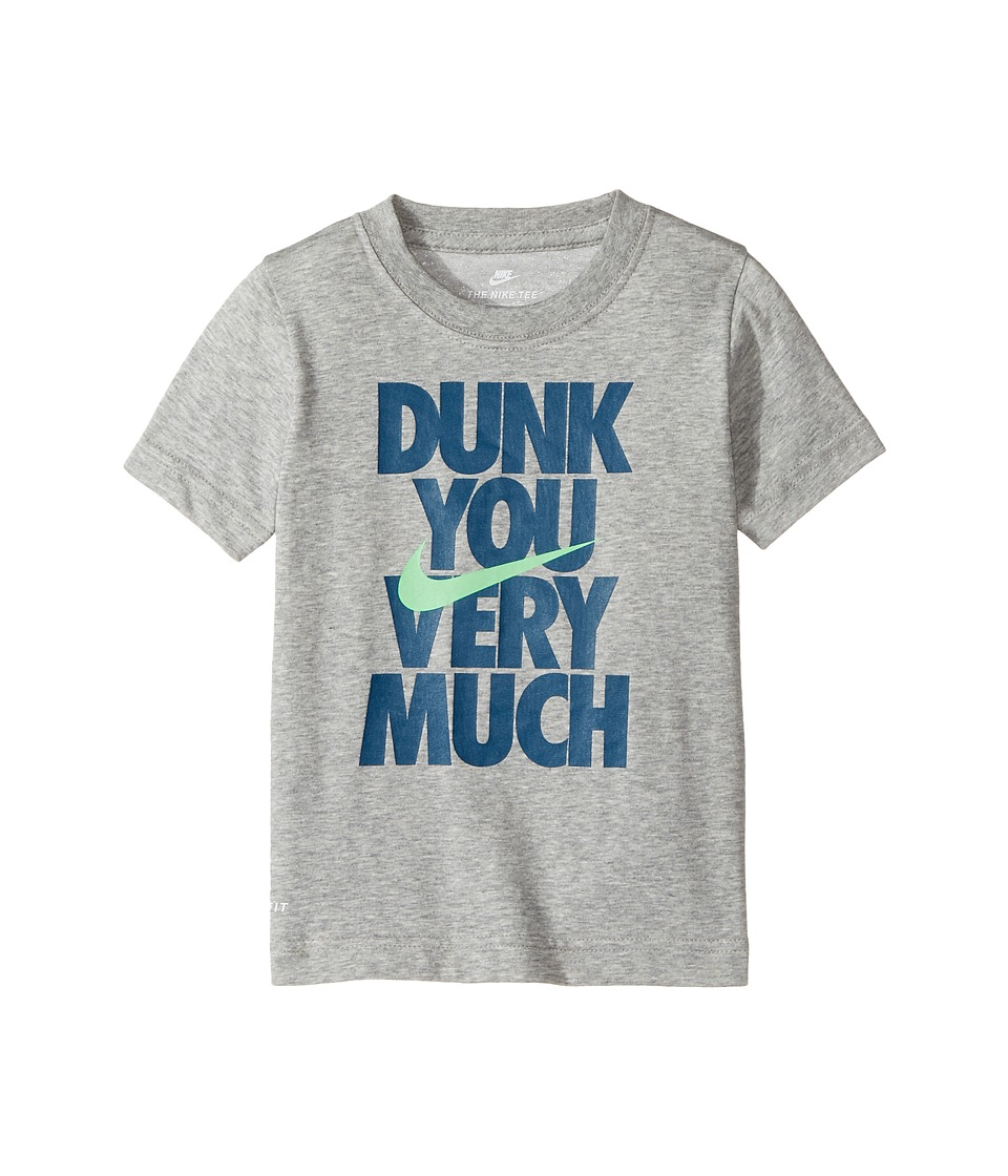 Nike Kids - Dunk You Very Much Tee (Toddler) (Dark Grey Heather) Boy's T Shirt