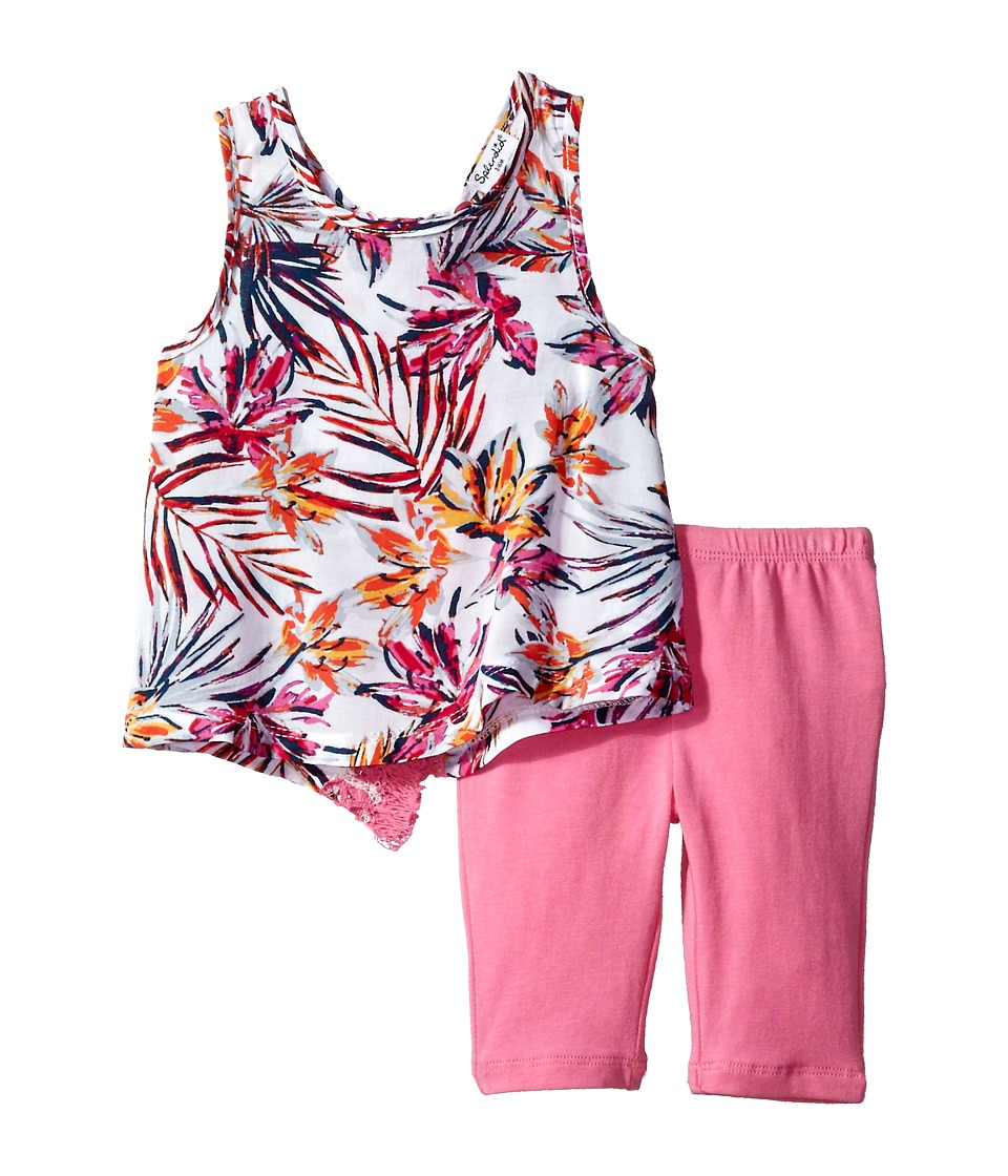 Splendid Littles - All Over Print with Fringe Trims Set (Infant) (Hot Pink) Girl's Active Sets