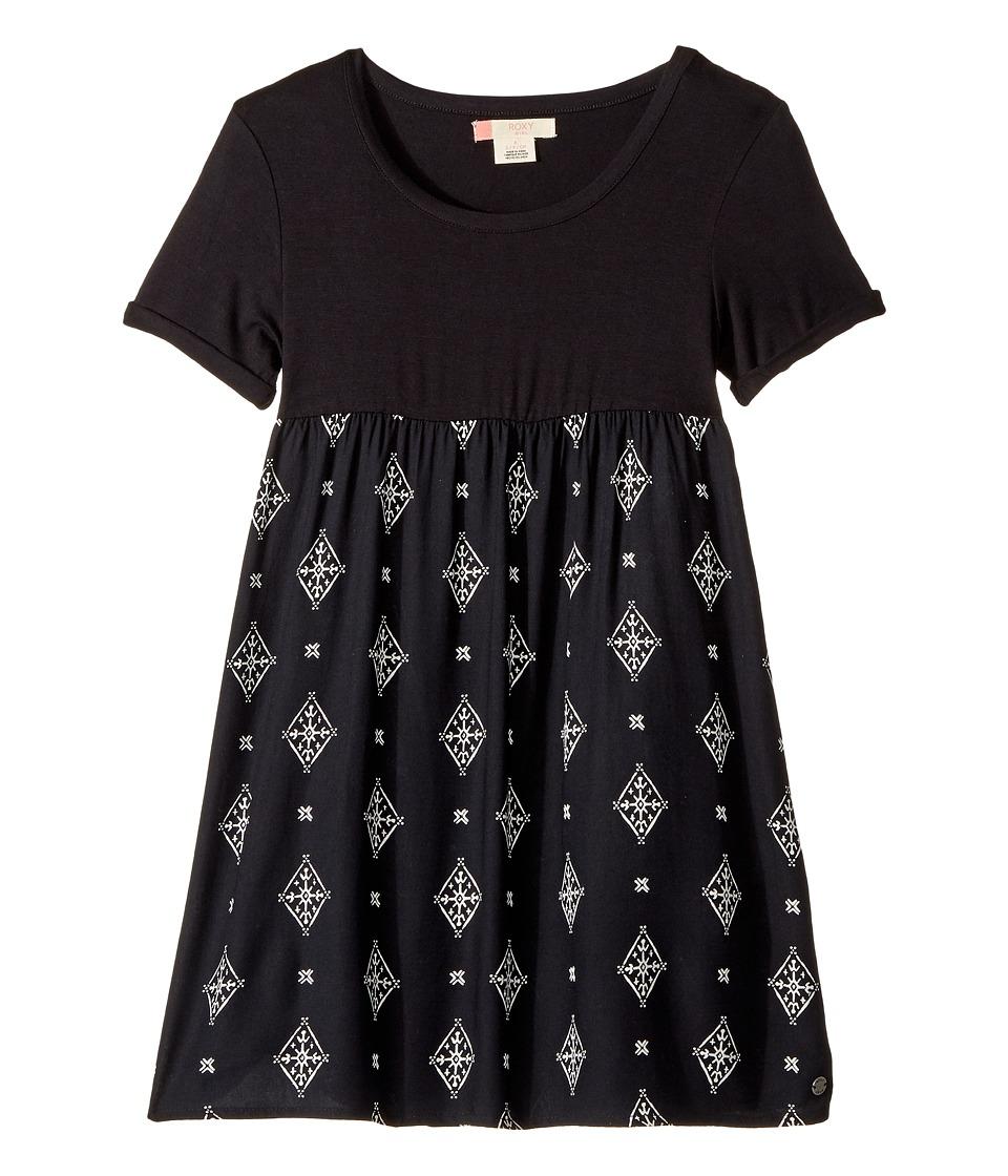 Roxy Kids - Branche Of Lilac Dress (Big Kids) (Anthracite Tribal Voice) Girl's Dress