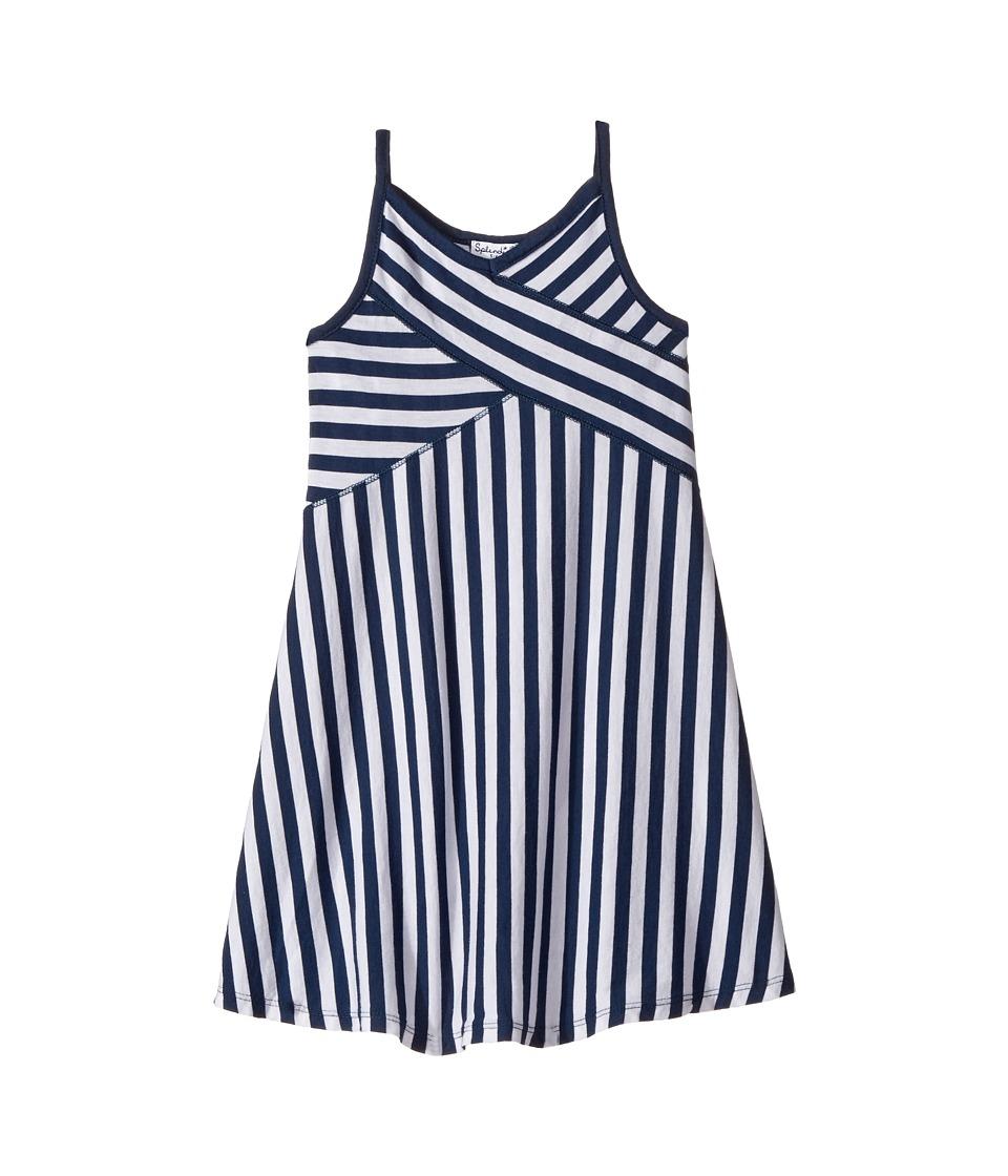 Splendid Littles - Always Striped Dress (Little Kids) (Navy) Girl's Dress