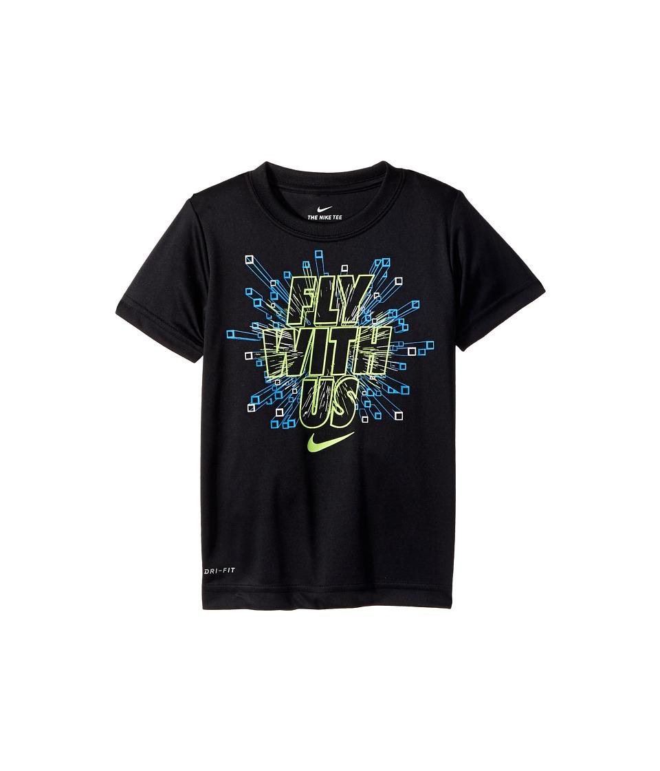 Nike Kids - Fly with Us Dri-Fit Tee (Little Kids) (Black) Boy's T Shirt