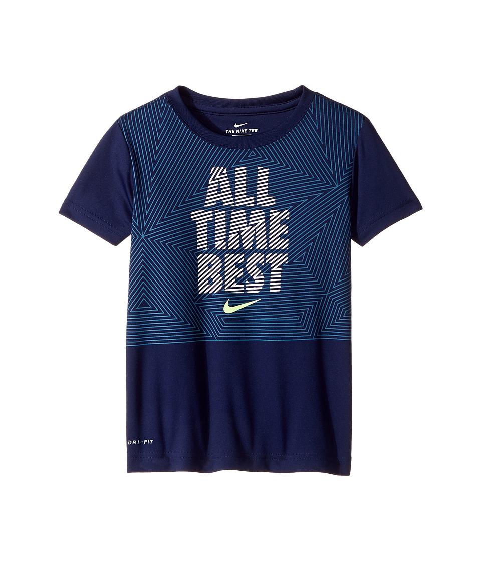 Nike Kids - All Time Best Dri-Fit Tee (Little Kids) (Binary Blue) Boy's T Shirt