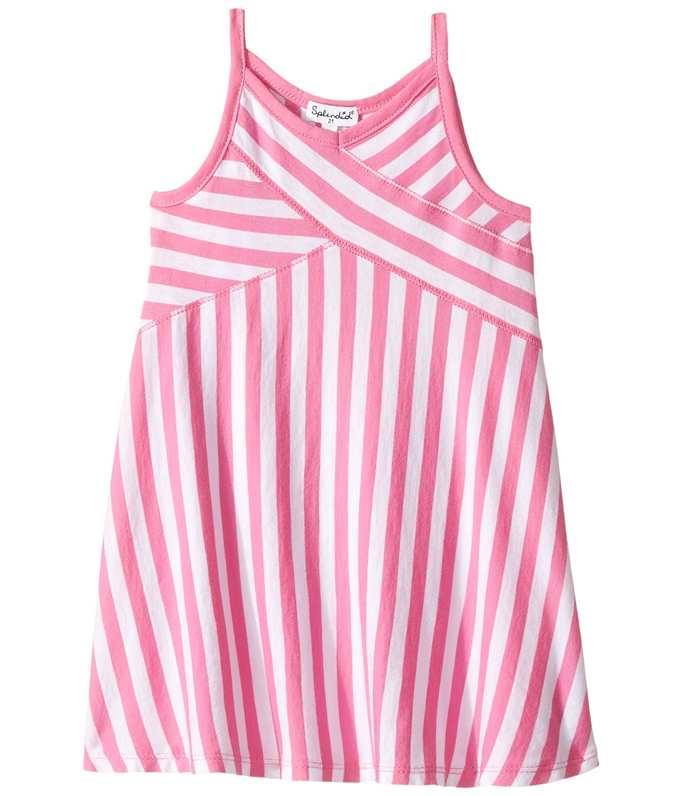 Splendid Littles - Always Striped Dress (Toddler) (Hot Pink) Girl's Dress
