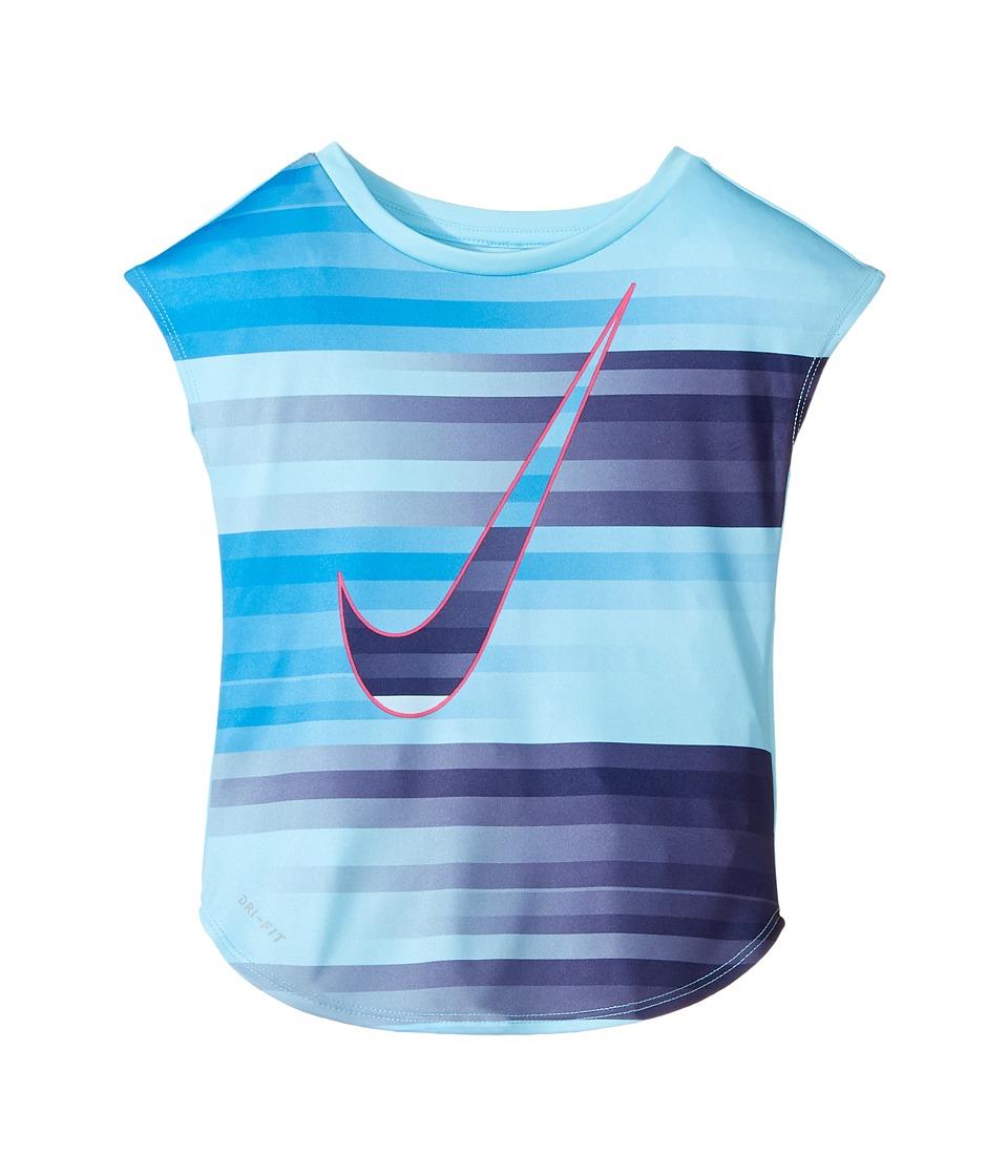 Nike Kids - Speed Blur Swoosh Modern Tee (Toddler) (Vivid Sky) Girl's Sleeveless