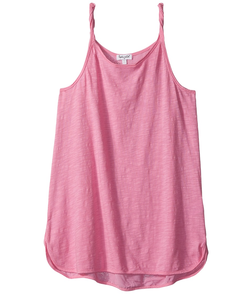 Splendid Littles - Always Twisted Strap Tank Top (Big Kids) (Hot Pink) Girl's Sleeveless