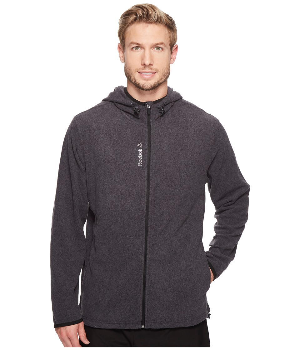 Reebok - Light Microfleece Jacket (Charcoal Heather) Men's Clothing
