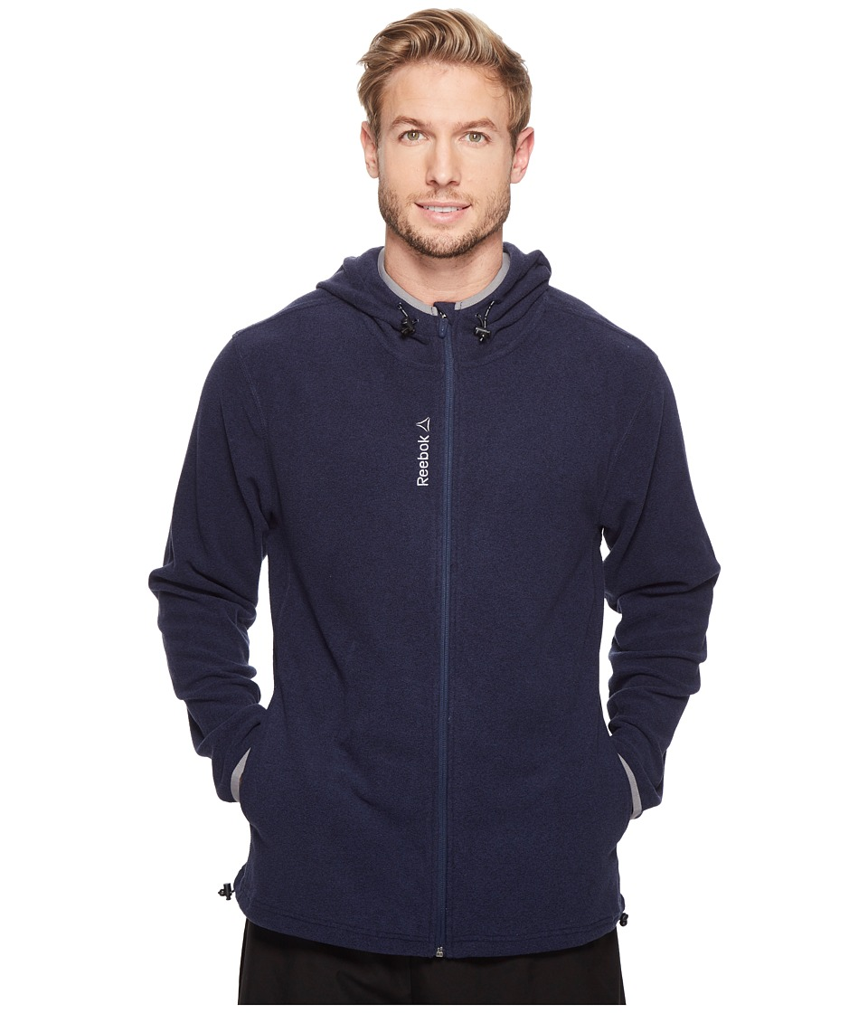 Reebok - Light Microfleece Jacket (Navy Heather) Men's Clothing