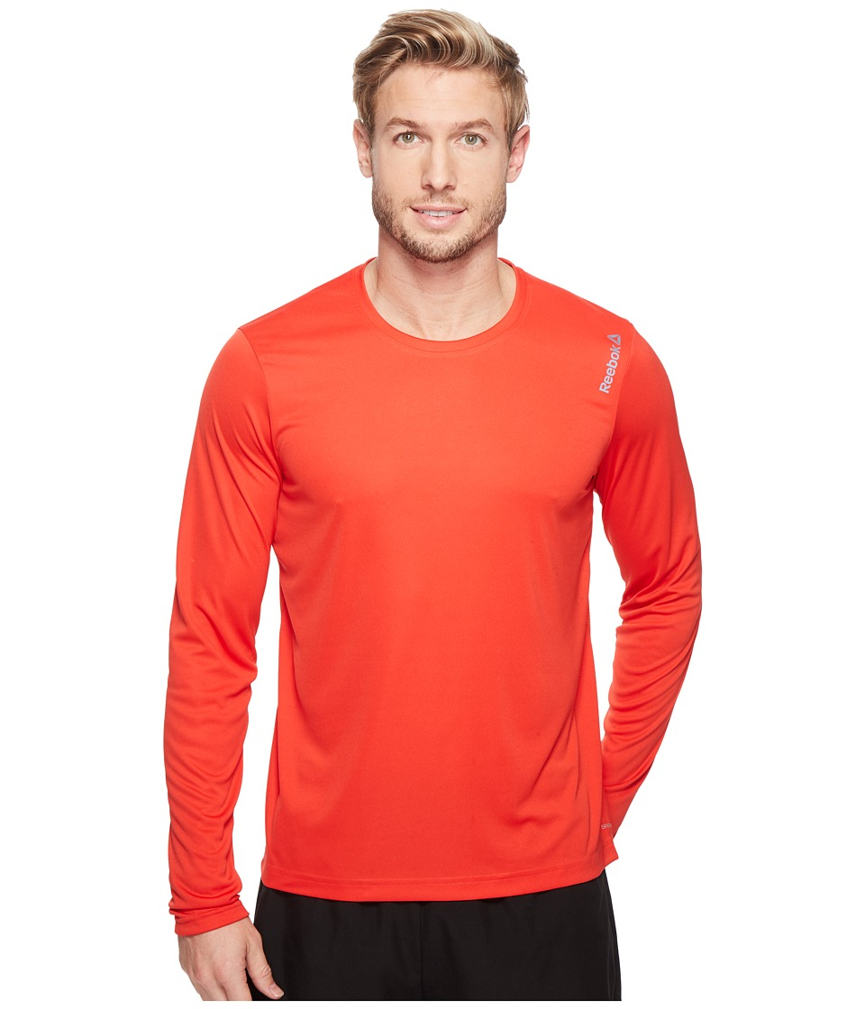 Reebok - Reebok Long Sleeve Tee (Red) Men's Clothing