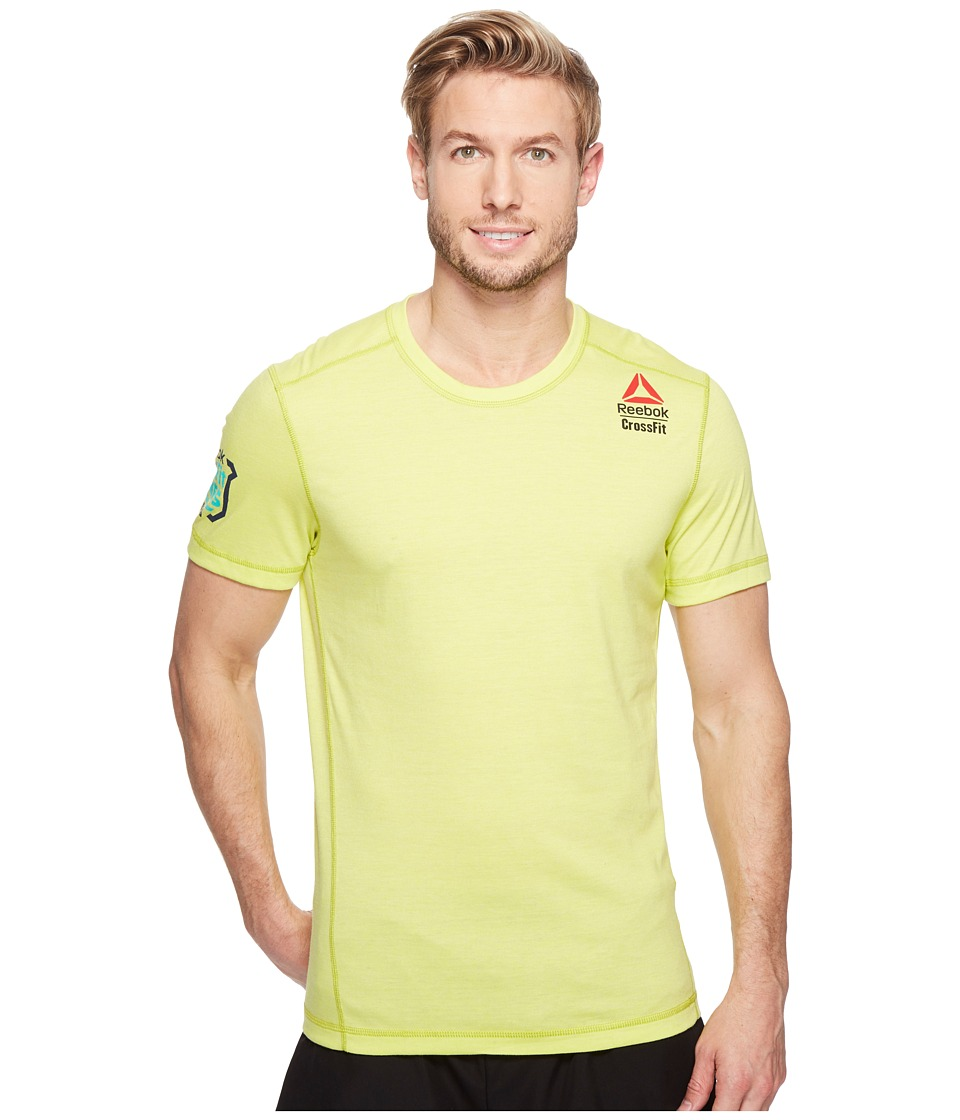 Reebok - Crossfit Perf Tee Games (Hero Yellow) Men's Clothing