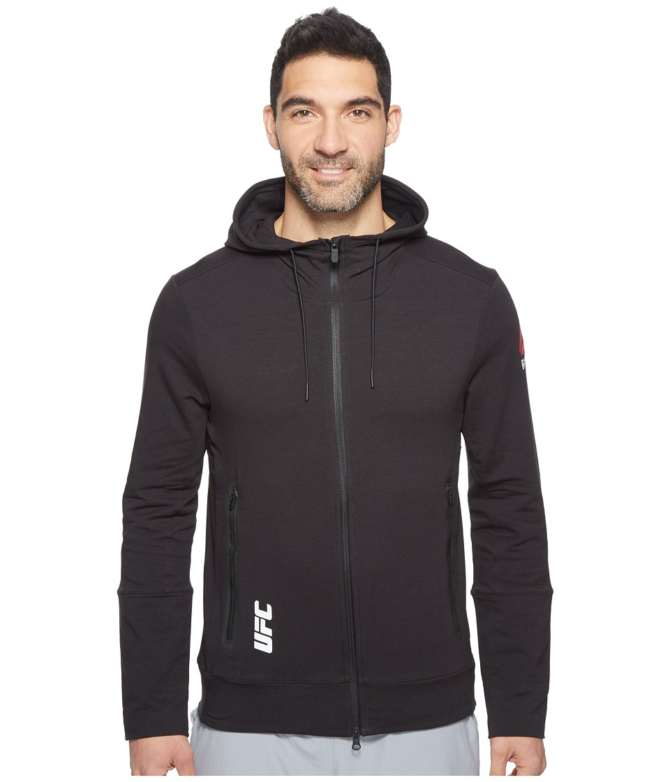 Reebok - UFC Train Hoodie (Black/Black) Men's Clothing
