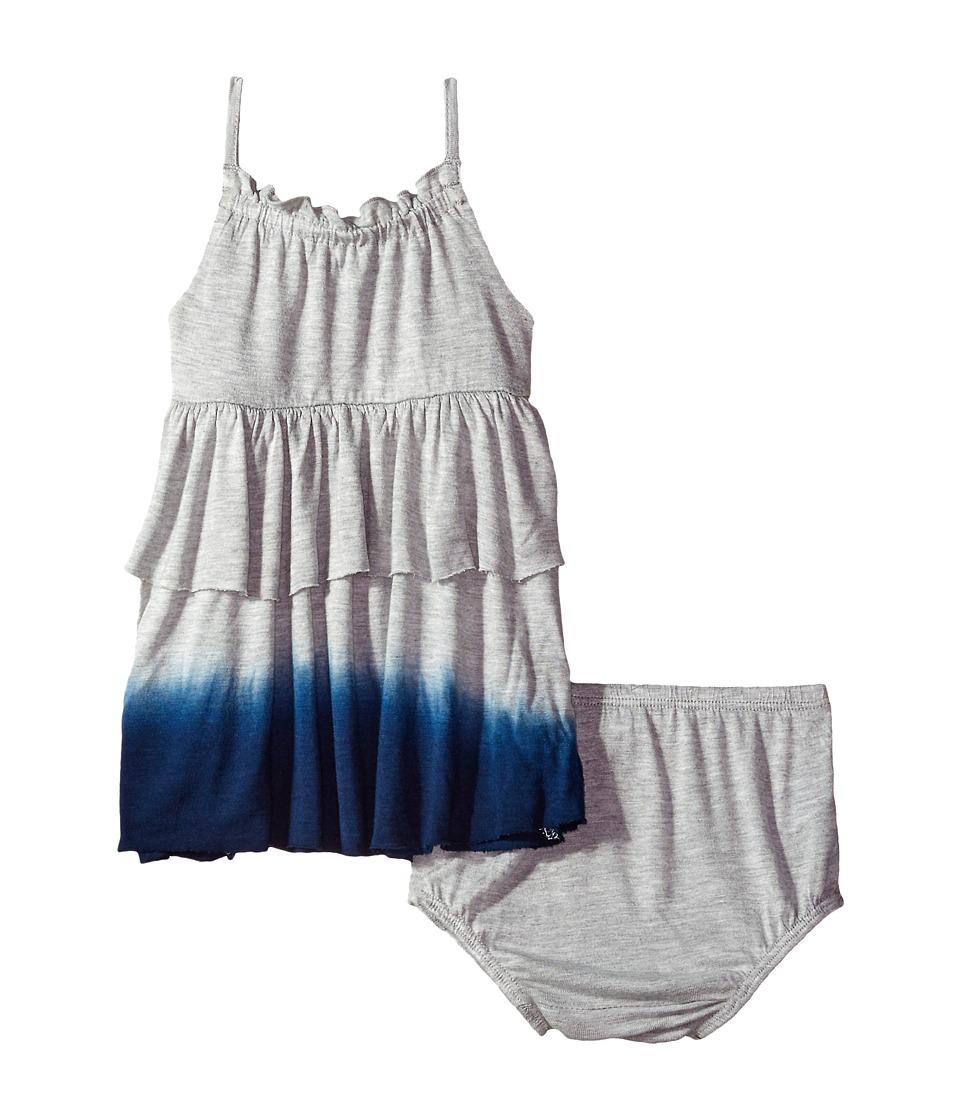 Splendid Littles - Dip-Dye Dress (Infant) (Grey Heather) Girl's Dress