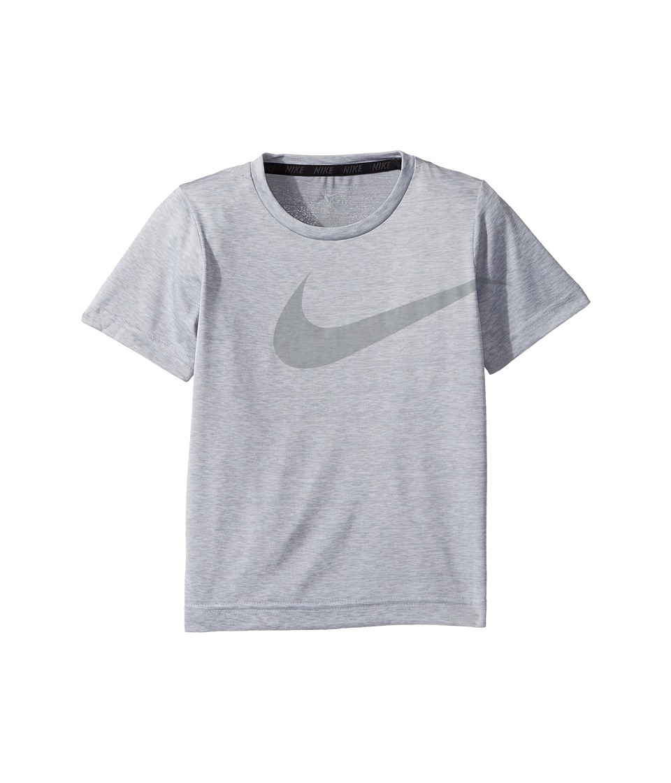 Nike Kids - Dri-Fit Short Sleeve Top (Little Kids) (White Heather) Boy's Clothing