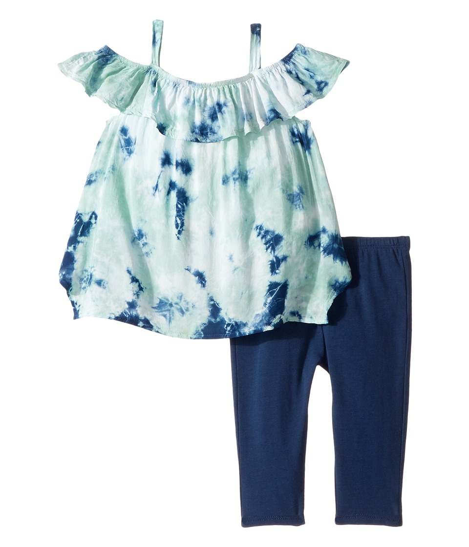 Splendid Littles - All Over Tie-Dye Voile Top Set (Infant) (Light Green) Girl's Active Sets