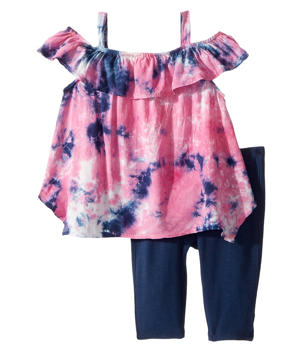 Splendid Littles - All Over Tie-Dye Voile Top Set (Infant) (Pink) Girl's Active Sets