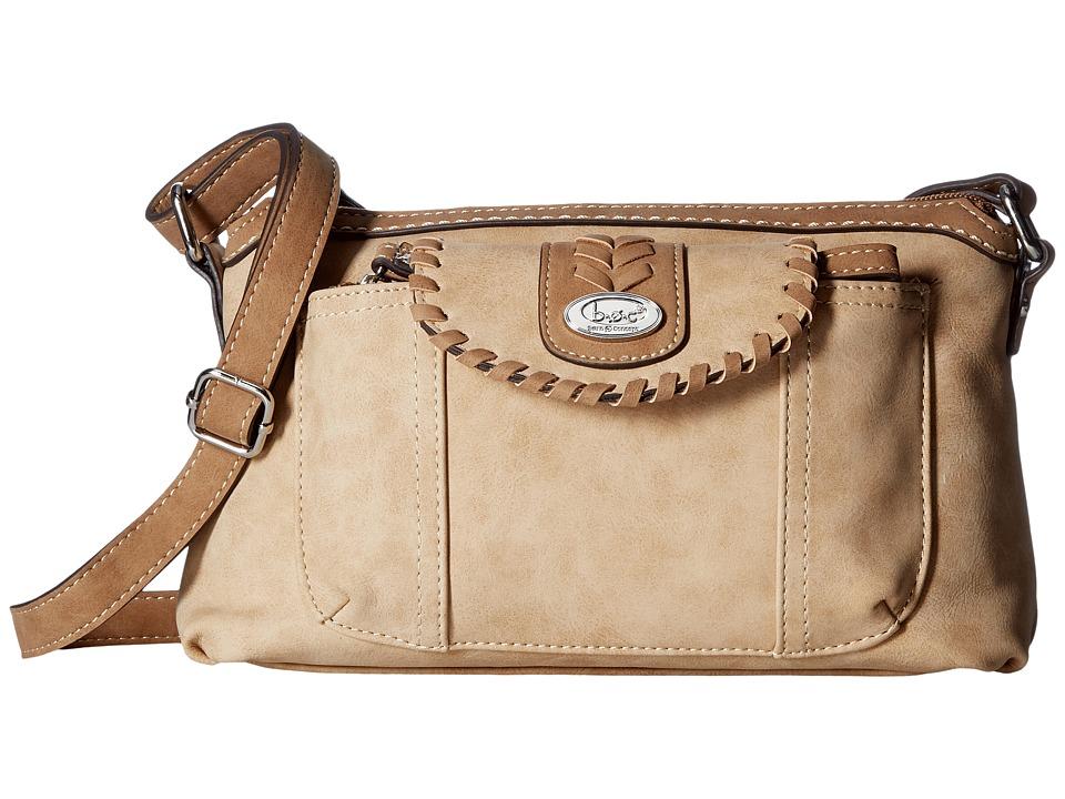 b.o.c. - Conroe Waltham Whip Merrimac w/ Wristlet (Stone/Saddle) Wristlet Handbags