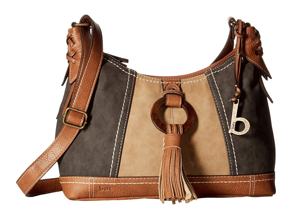 b.o.c. - Rock Rock Crossbody (Charcoal/Saddle/Walnut) Cross Body Handbags