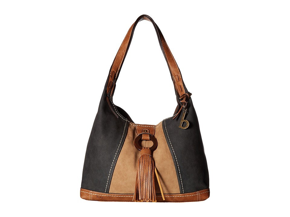 b.o.c. - Rock Rock 4 Poster (Charcoal/Saddle/Walnut) Handbags