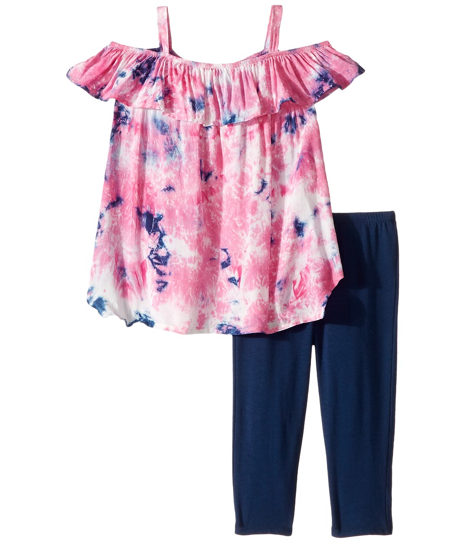 Splendid Littles - All Over Tie-Dye Voile Set (Toddler) (Pink) Girl's Active Sets