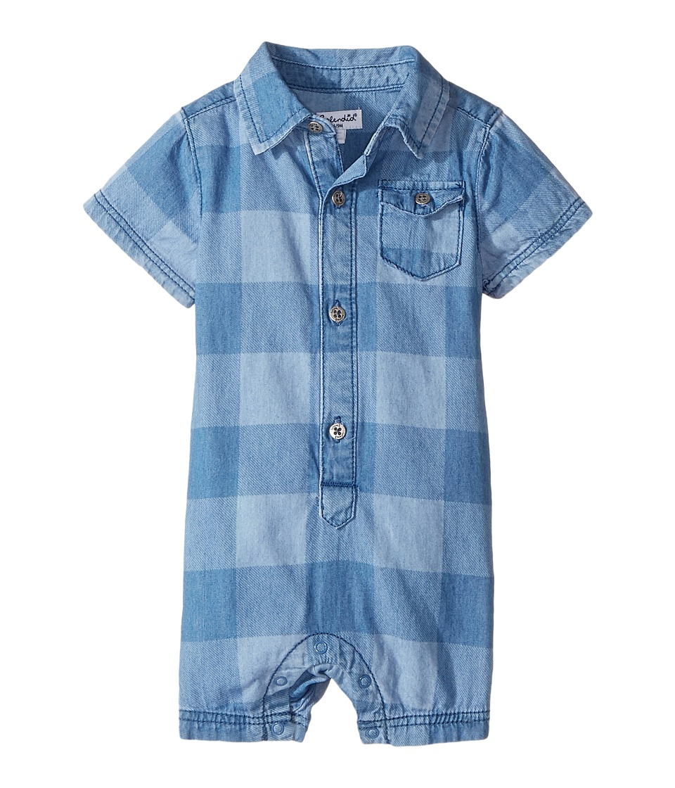 Splendid Littles - Printed Denim Romper (Infant) (Chambray) Boy's Jumpsuit & Rompers One Piece