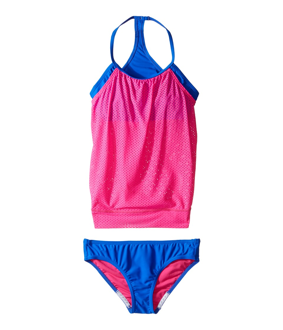 Speedo Kids - Blouson Tankini Two-Piece Swimsuit Set (Big Kids) (Electric Pink) Girl's Swimwear Sets