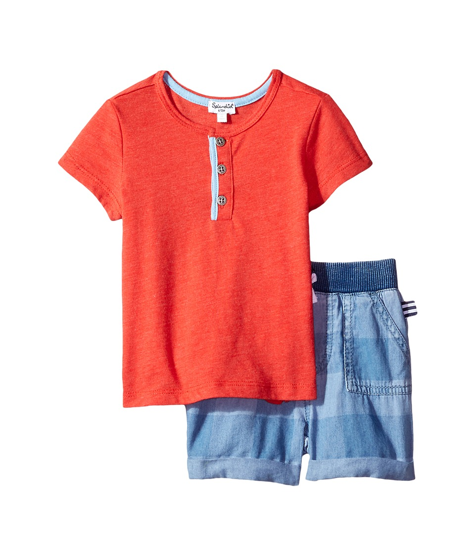 Splendid Littles - Henley Tee Set (Infant) (Red) Boy's Active Sets