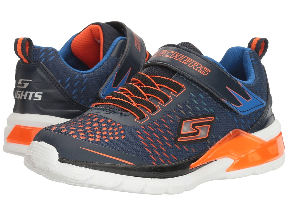 SKECHERS KIDS - Erupters II-Lava Arc (Little Kid) (Navy/Orange) Boy's Shoes