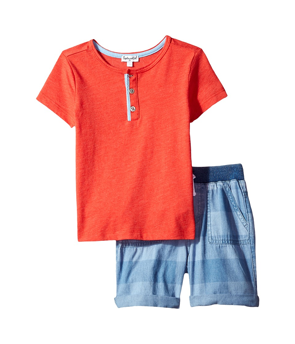 Splendid Littles - Henley Tee Set (Toddler) (Red) Boy's Active Sets