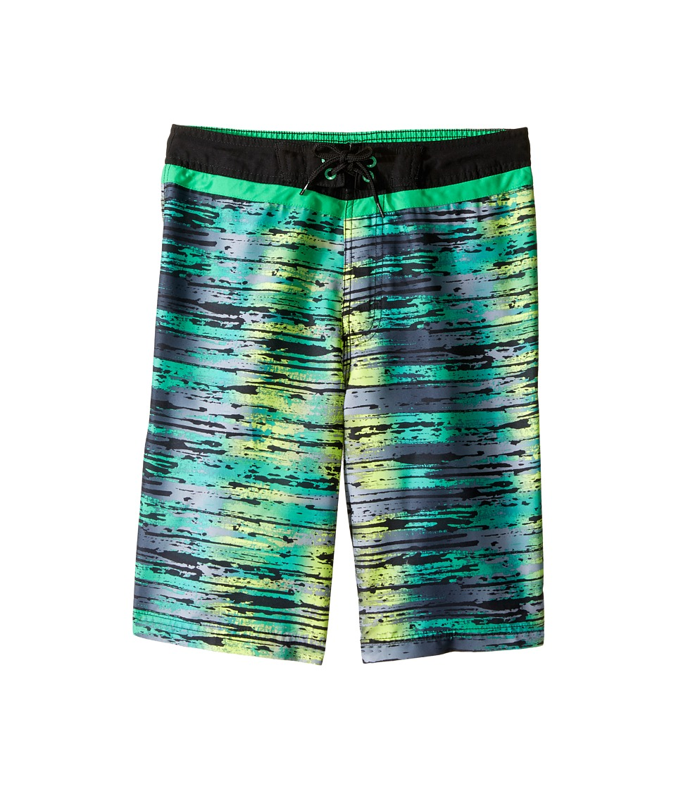 Speedo Kids - Splash Stripe E-Board Shorts (Little Kids/Big Kids) (Algae Green) Boy's Swimwear