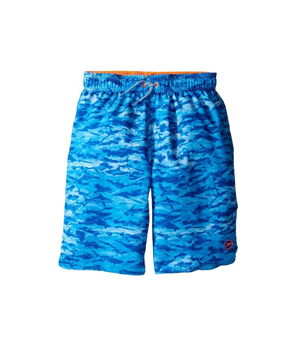 Speedo Kids - Sharkamo Volley Shorts (Little Kids/Big Kids) (Bright Ocean) Boy's Swimwear