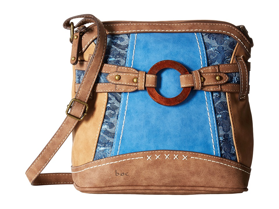 b.o.c. - Garland Crossbody (Saddle Ink/Chocolate) Handbags
