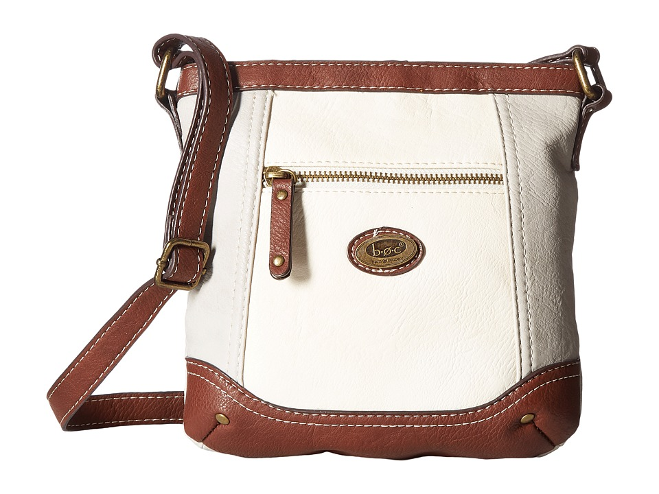 b.o.c. - Oberon Power Bank Crossbody (Dove/Bone/Saddle) Cross Body Handbags