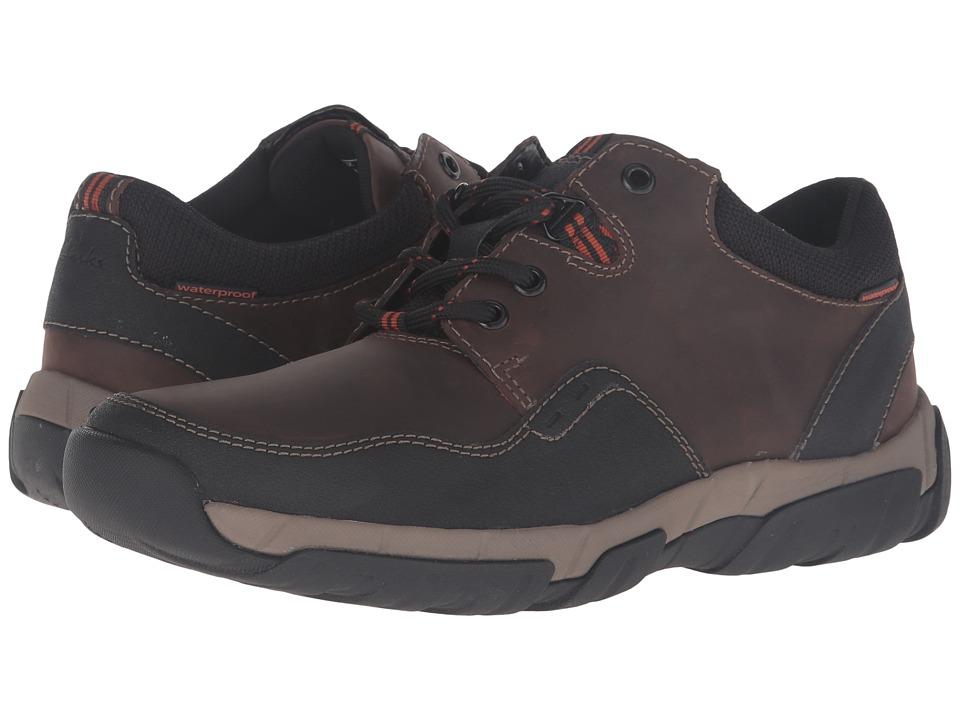 Clarks - Walbeck Edge (Brown Waterproof Leather) Men's Shoes