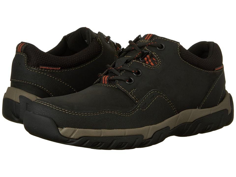 Clarks - Walbeck Edge (Black Waterproof Leather) Men's Shoes