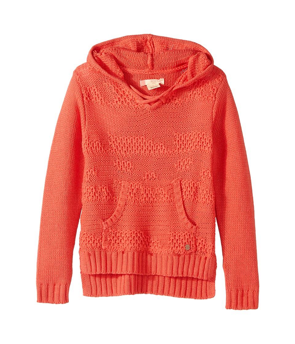 Roxy Kids - Soft Snowflake Hoodie (Big Kids) (Spiced Coral) Girl's Sweatshirt