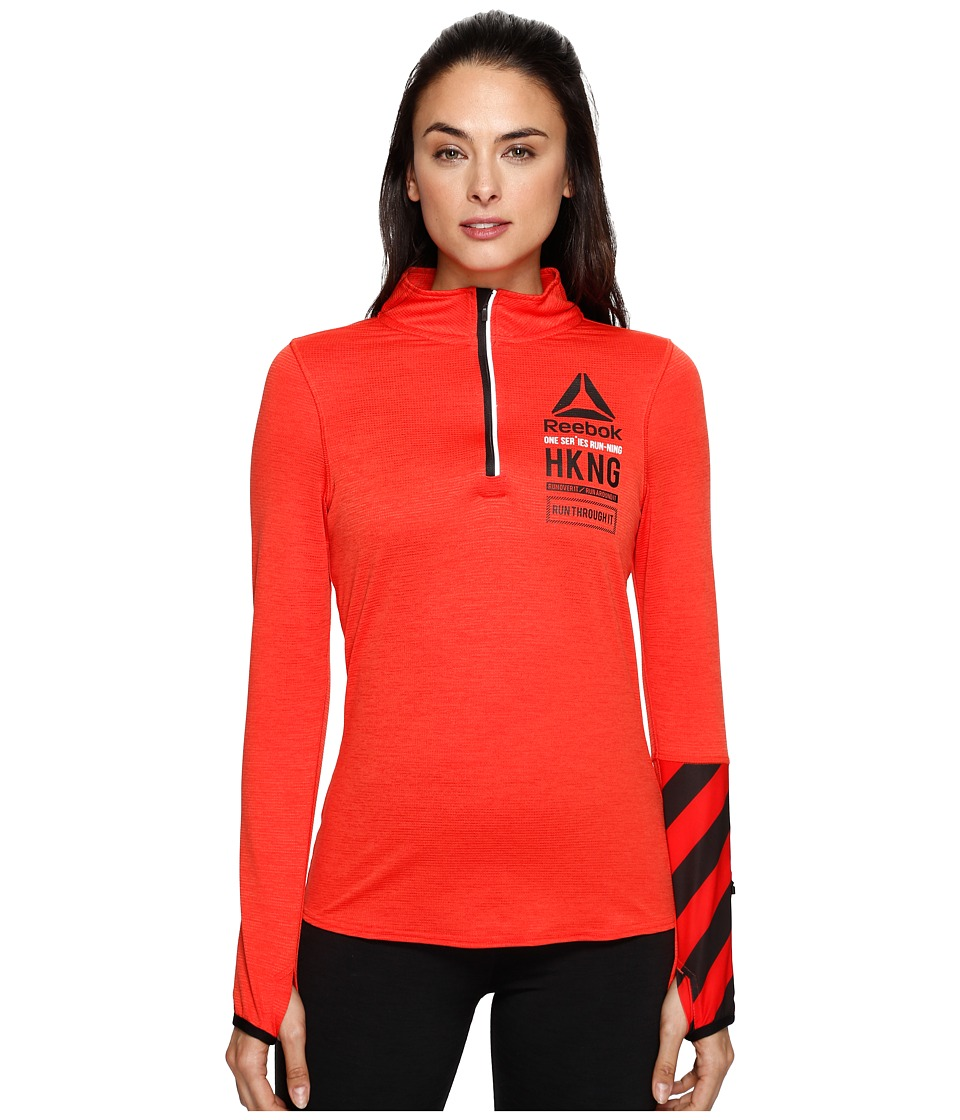 Reebok - One Series 1/4 Zip (Riot Red) Women's Clothing