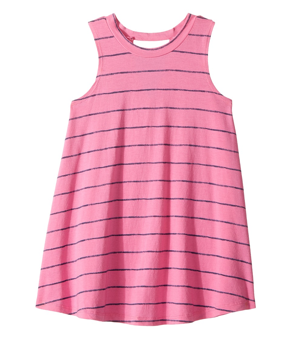 Splendid Littles - Printed Stripe Dress (Toddler) (Hot Pink) Girl's Dress