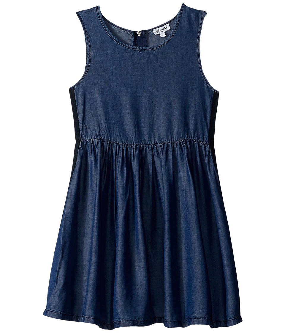 Splendid Littles - Side Taping Tencel Dress (Toddler) (Indigo) Girl's Dress