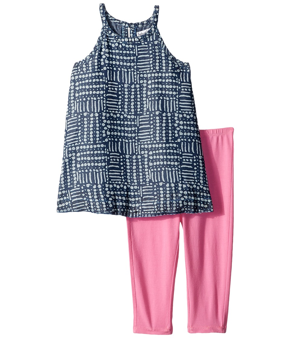 Splendid Littles - Printed Tencel Top Set (Toddler) (Navy) Girl's Active Sets