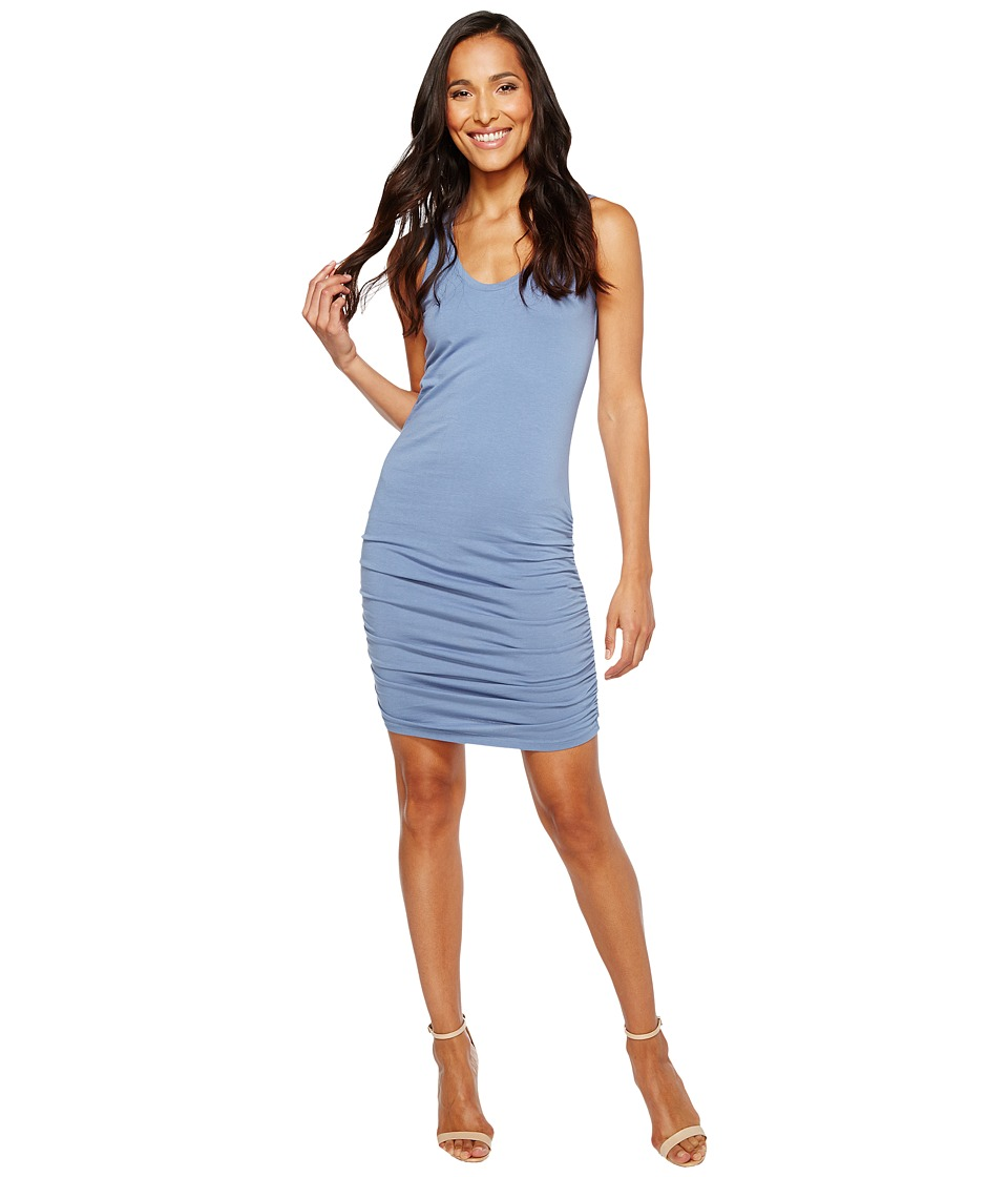 Michael Stars Scoop Neck Tank Dress w/ Shirring (Indigo) Women