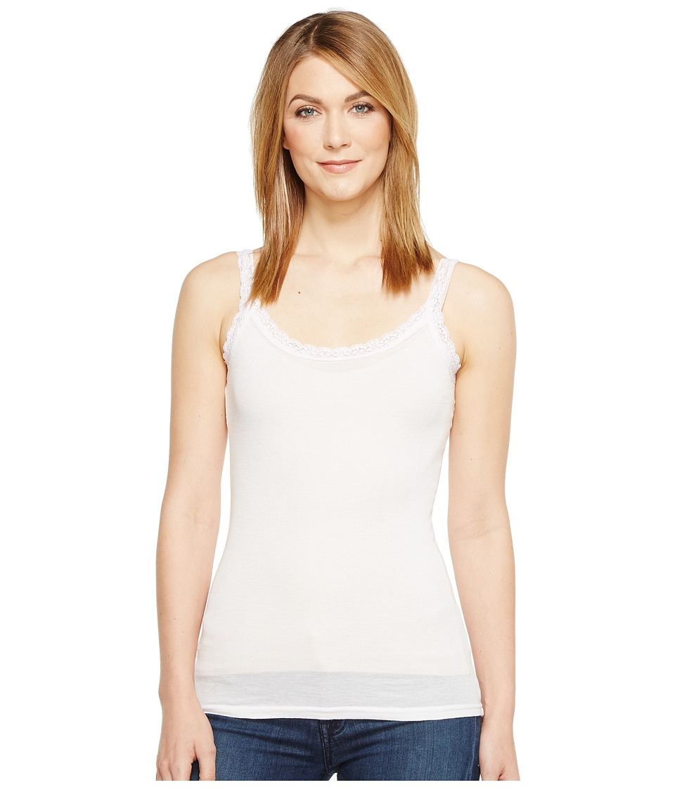 Michael Stars - Front To Back Lace Edge Layering Tank Top (Sugar) Women's Sleeveless
