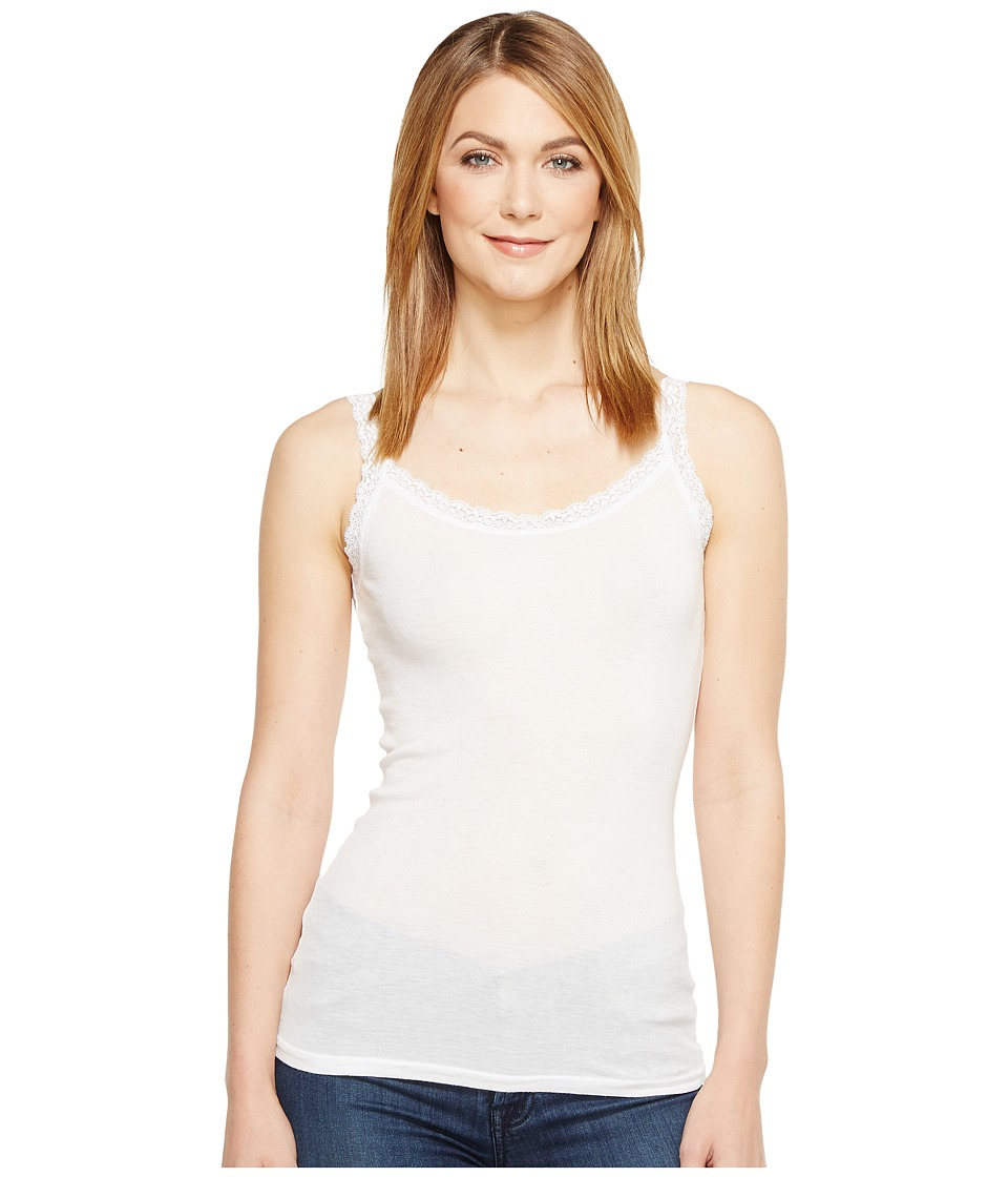 Michael Stars - Front To Back Lace Edge Layering Tank Top (White) Women's Sleeveless