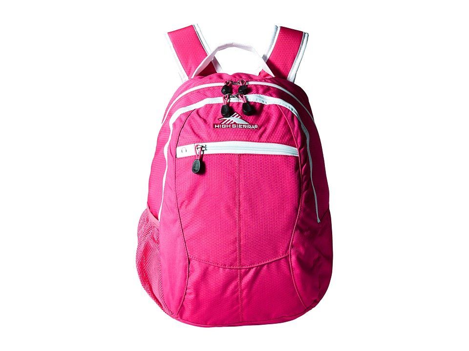 High Sierra - Curve Backpack (Flamingo/White) Backpack Bags